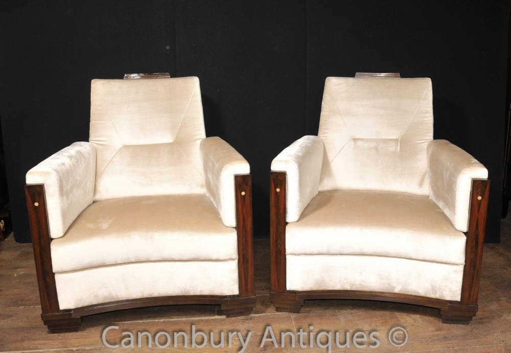 Art Deco club Chaises Rosewood Fauteuil Sofa Seat