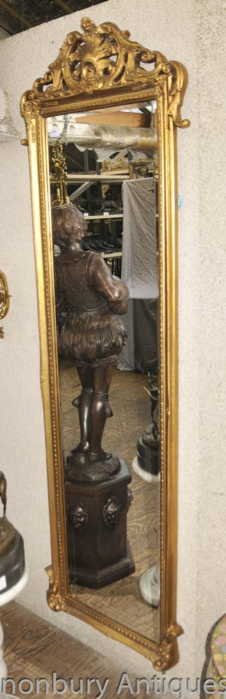 Empire français Miroir Salle Grand Gilt Miroirs Verre