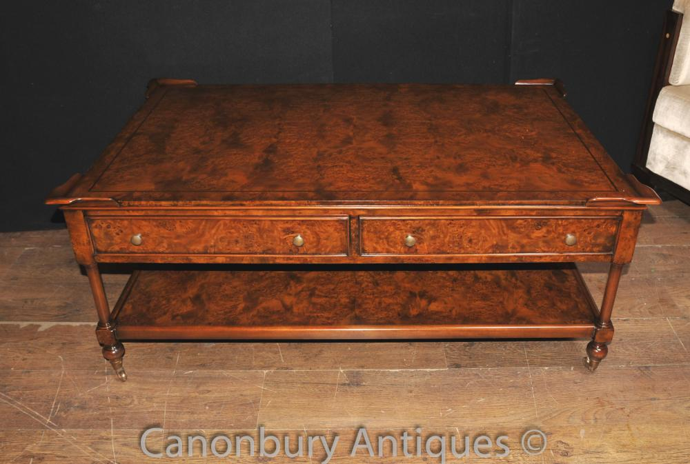 Regency Coffee Table Burr Walnut Tables Meubles