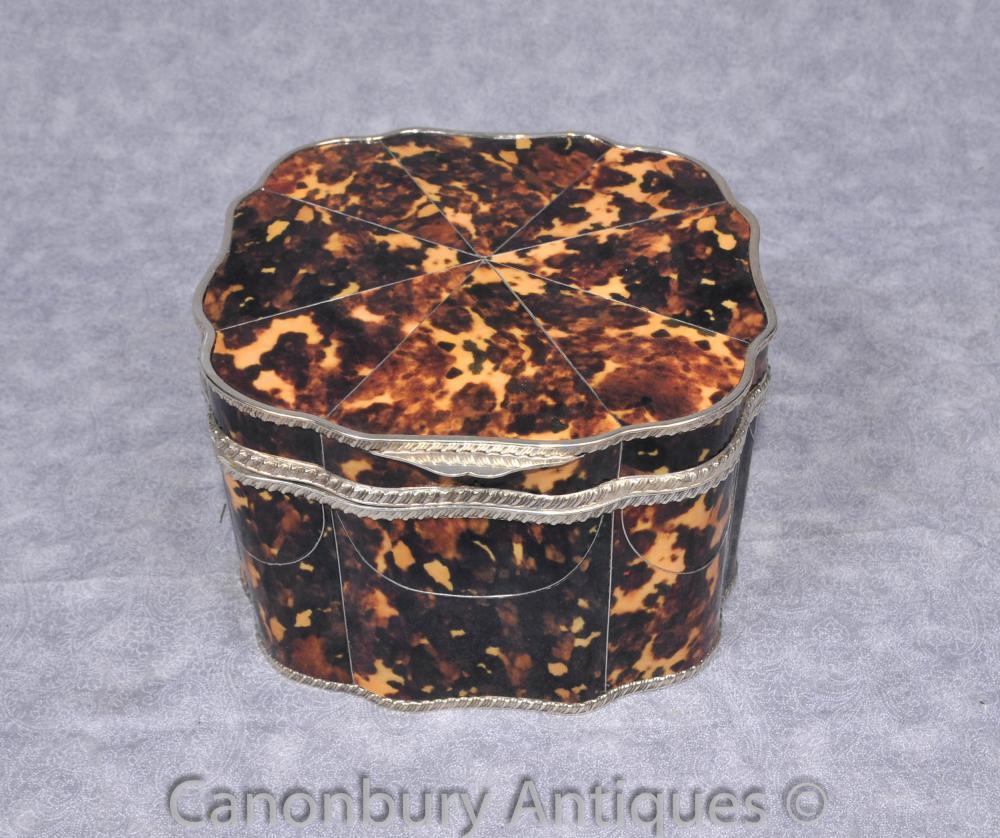 Victorian Silver Plate Boîte à bijoux Trinket Case pétoncle