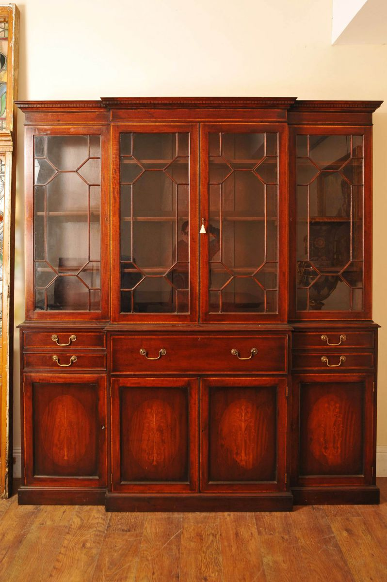 Antique Breakfront Bookcase Bookcases www_canonburyantiques_com