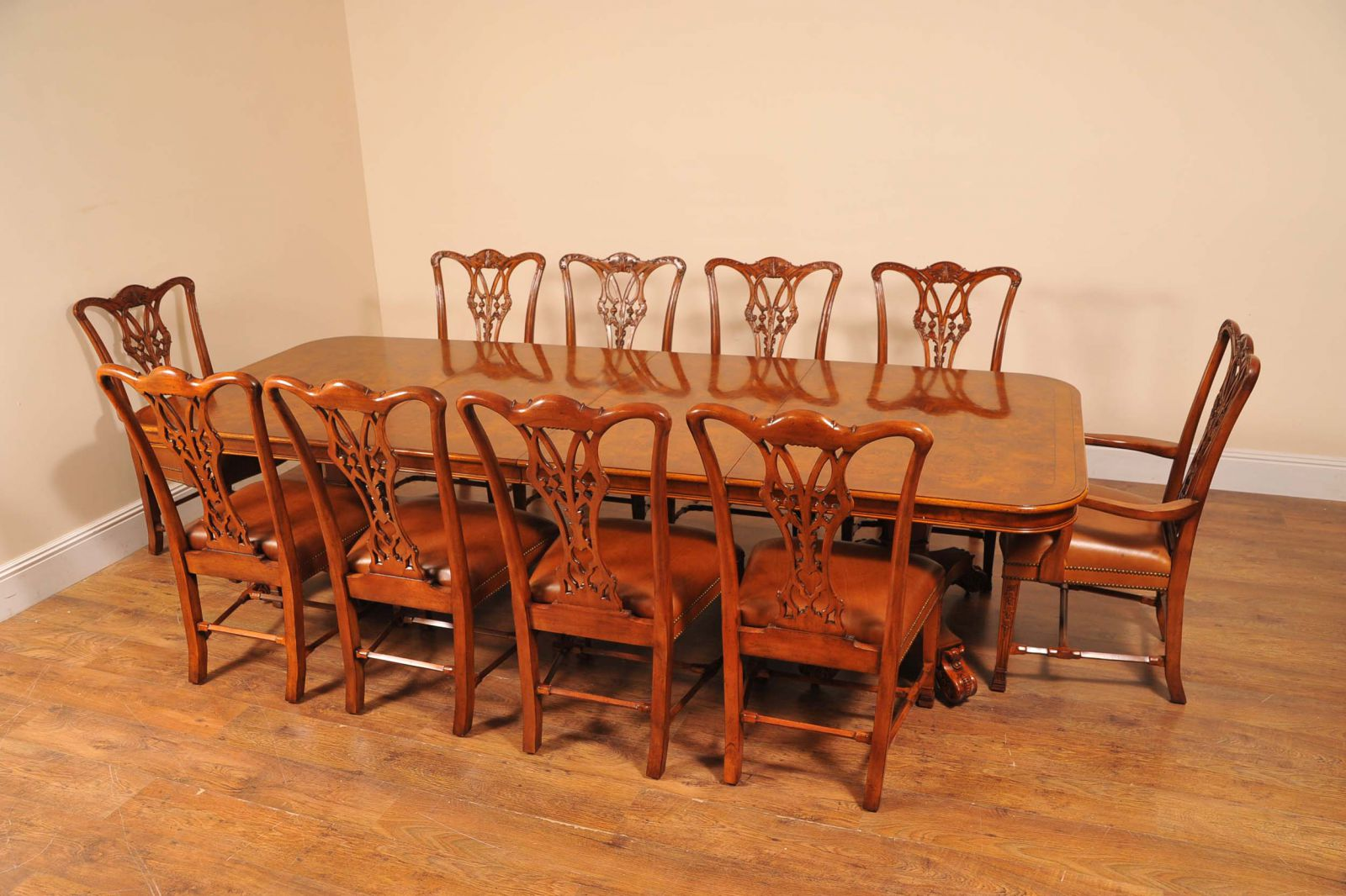 Antique Dining Set - Regency Table Chippendale Chairs www_canonburyantiques_com (1)