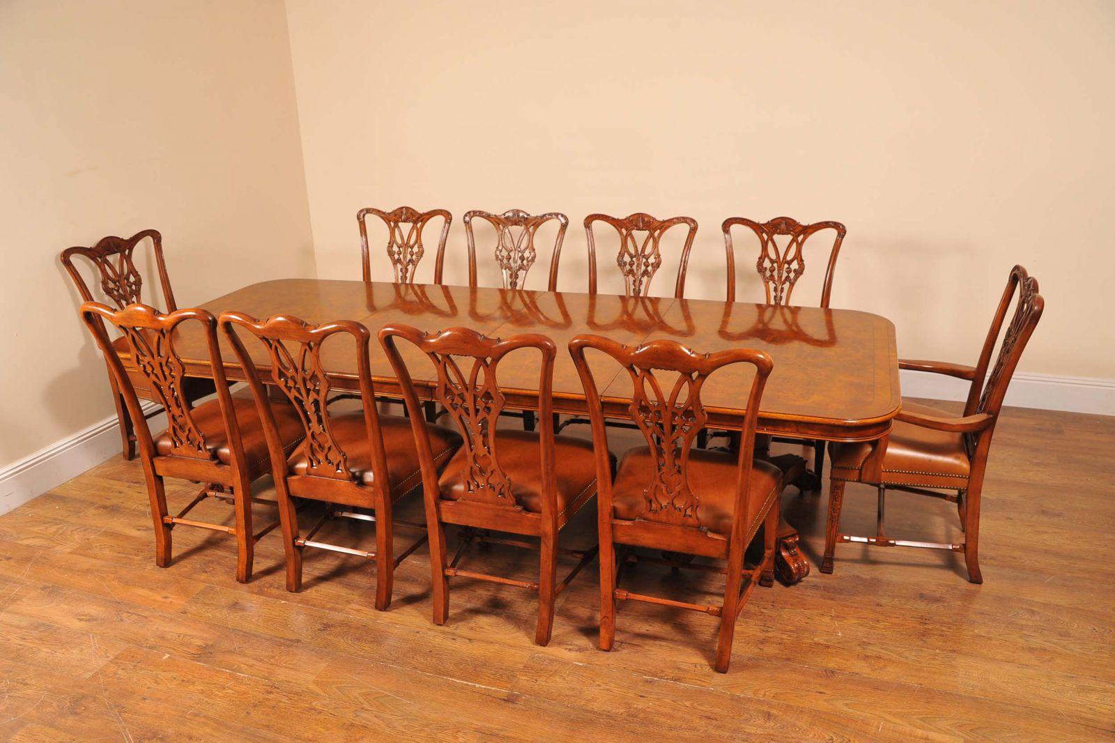 Antique Dining Set - Regency Table Chippendale Chairs www_canonburyantiques_com (1)