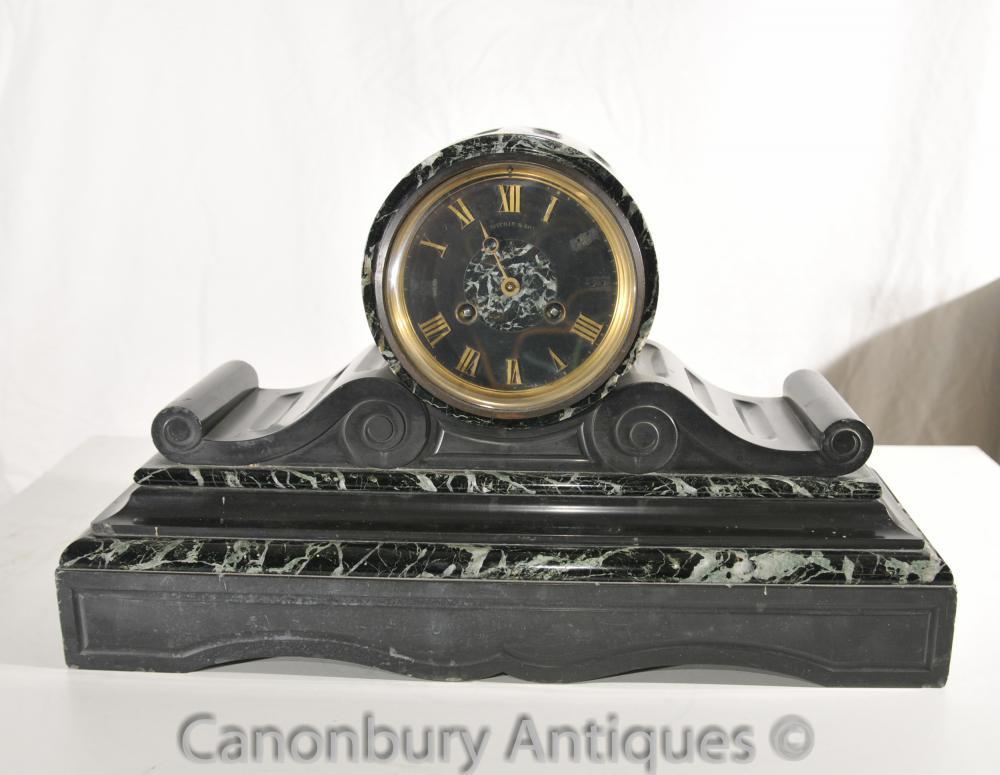Art Antique Déco Français Pendule Barrel et tambour des années 1920