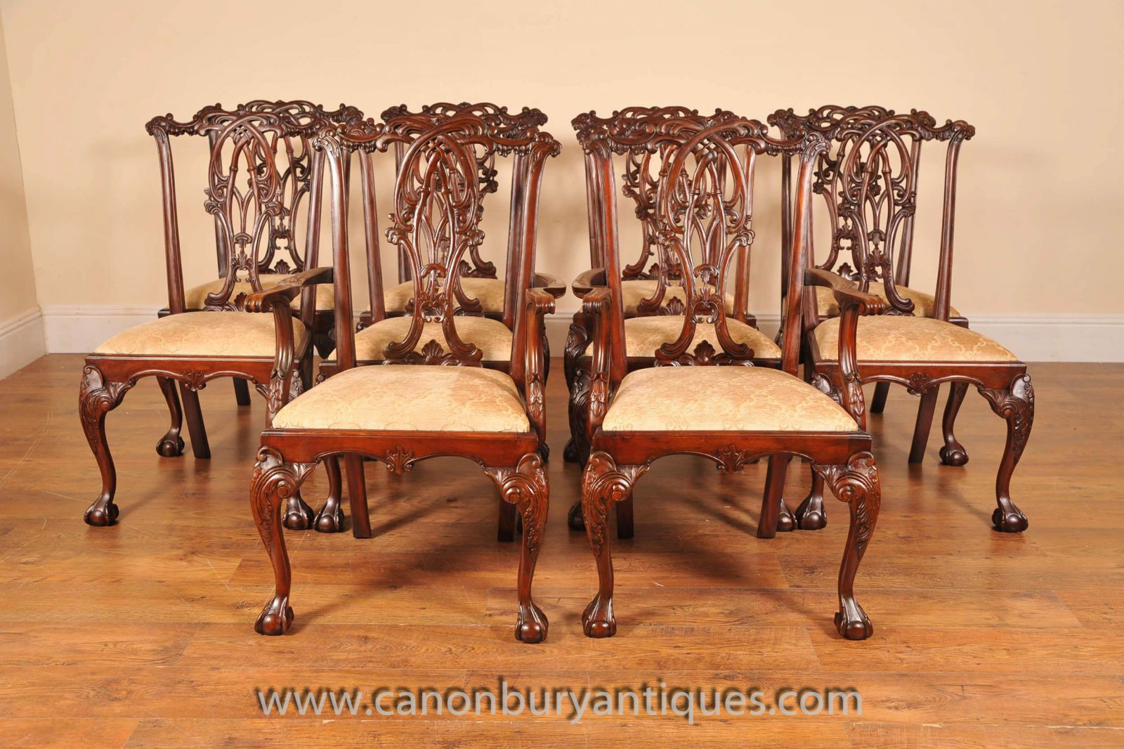Chippendale Chairs Ball and Claw Feet www_canonburyantiques_com-2