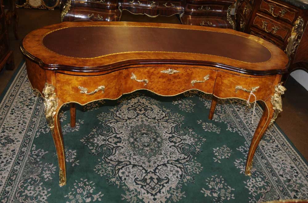 French Empire Kidney Bean Desk Writing Table