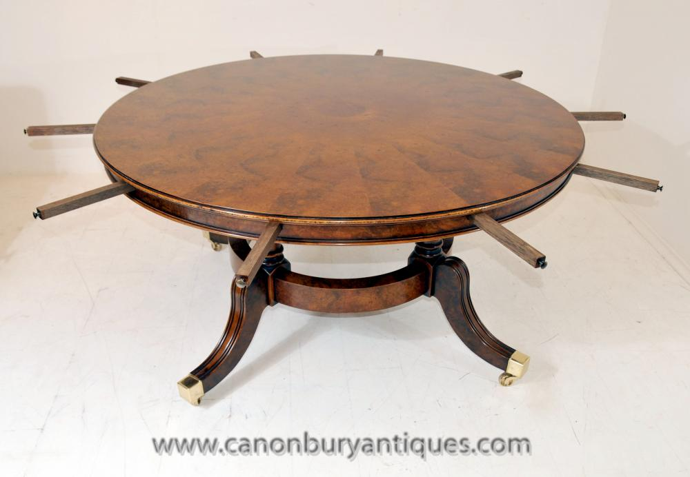 Jupes round extending dining table