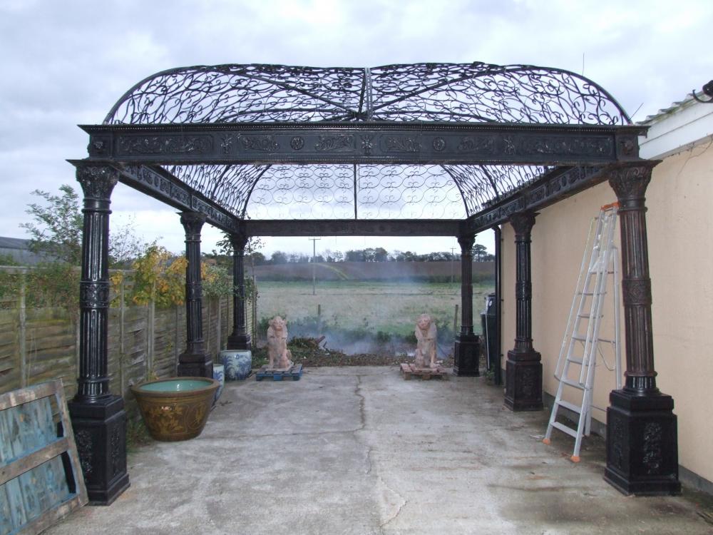 Massive Cast Victorian Fer Gazebo Arbor Architectural Garden Castings