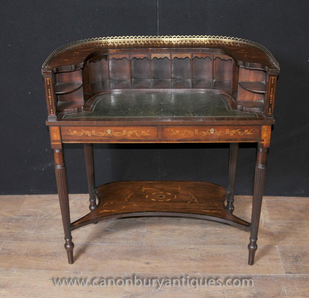 Regency Carlton House Desk Mahogany Marquetry(1)