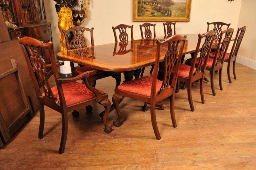 Regency Pedestal Dining Table Mahogany Diner