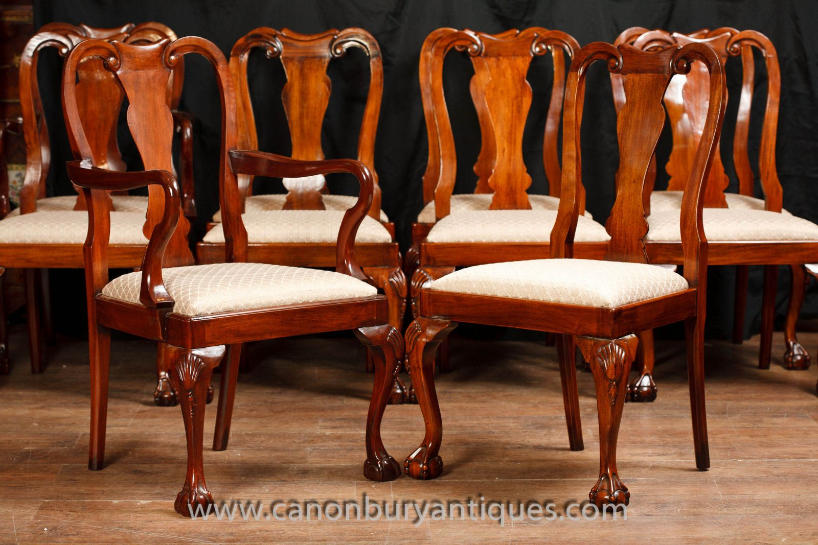 Set Queen Anne Dining Chairs www_canonburyantiques_com (4)-2