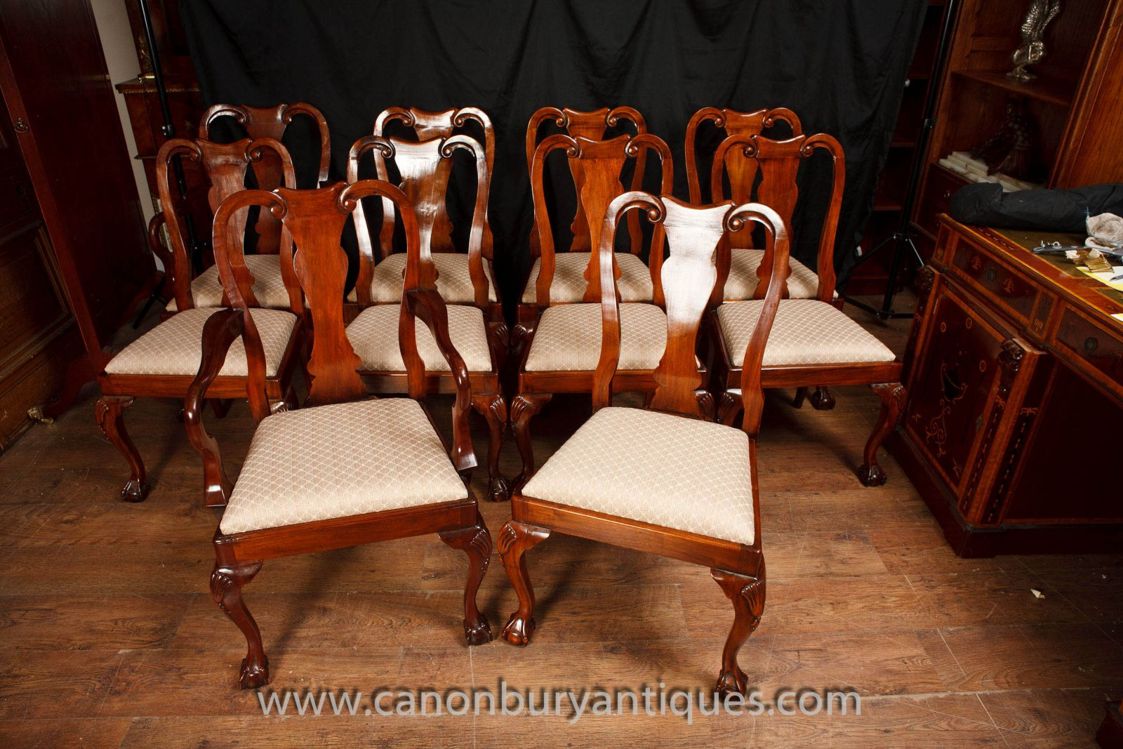 Set Queen Anne Dining Chairs