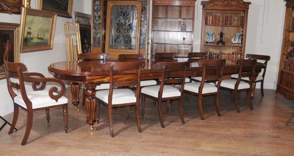 Victorian Dining Set Mahogany Table