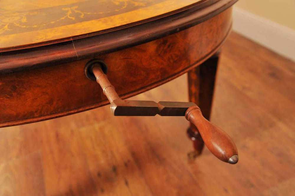 Victorian Table Handle for extending leaf system
