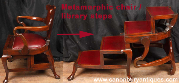 metamorphic chair library steps