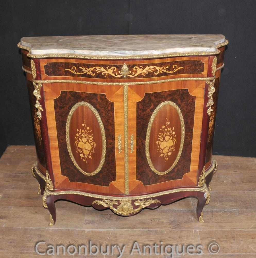 Antique Louis XVI Cabinet Chest Bahut Marqueterie Inlay