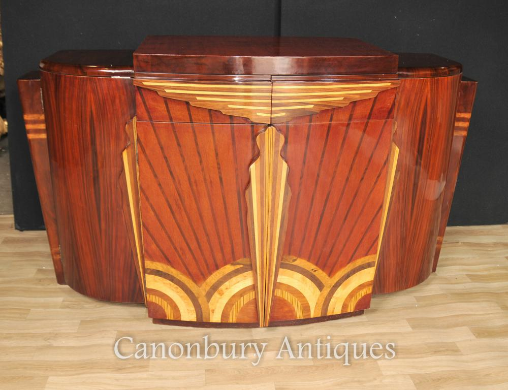 Art Deco Enfilade Cabinet Marqueterie Inlay Rosewood