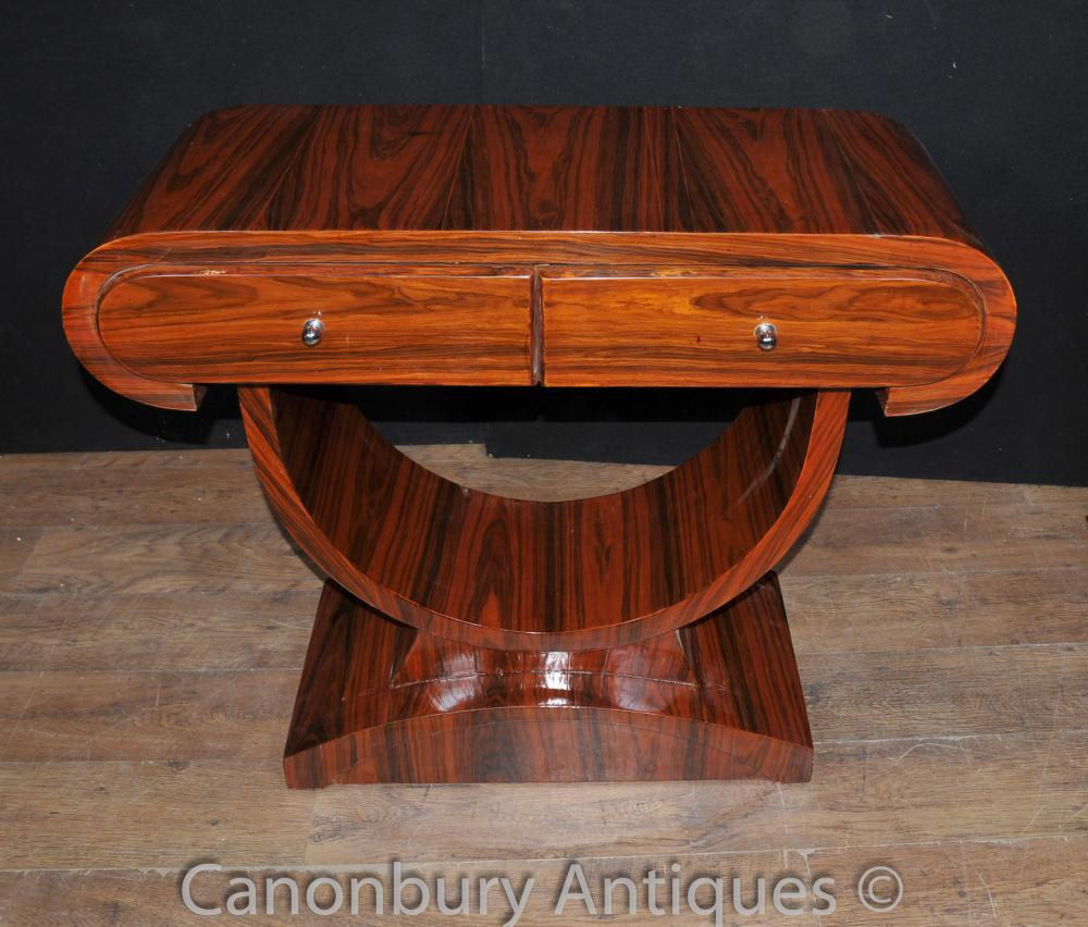 Art Deco Table Console Rosewood Salle Tables