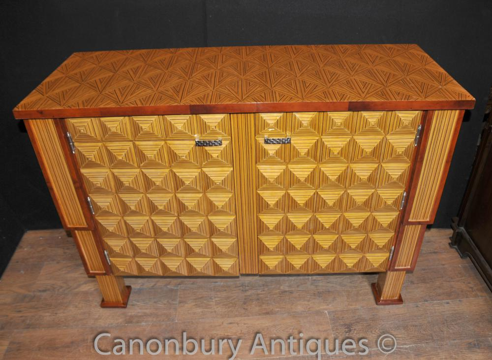 Art déco cubiste Cabinet Chest Buffet Placard