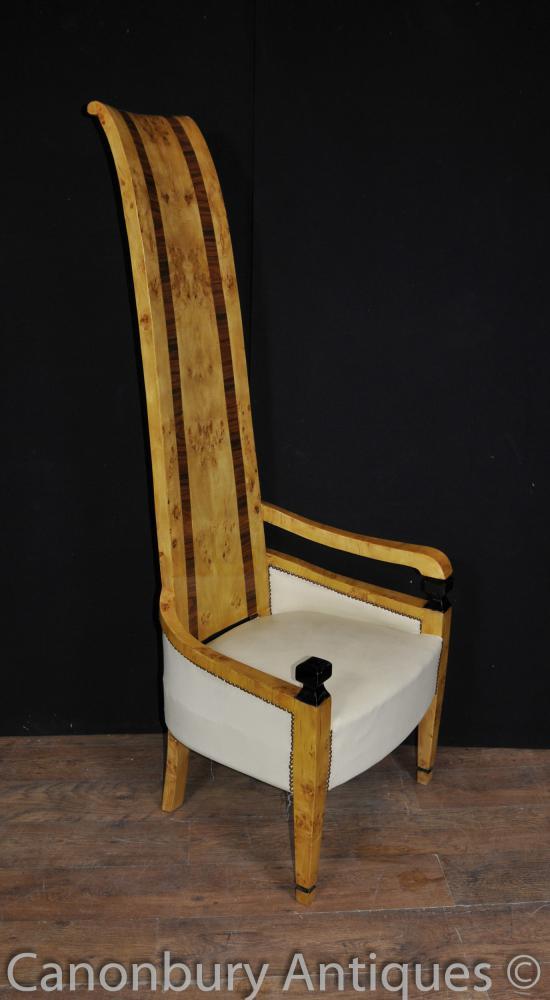 Art déco haut Retour Fauteuil Chaises Club Seat