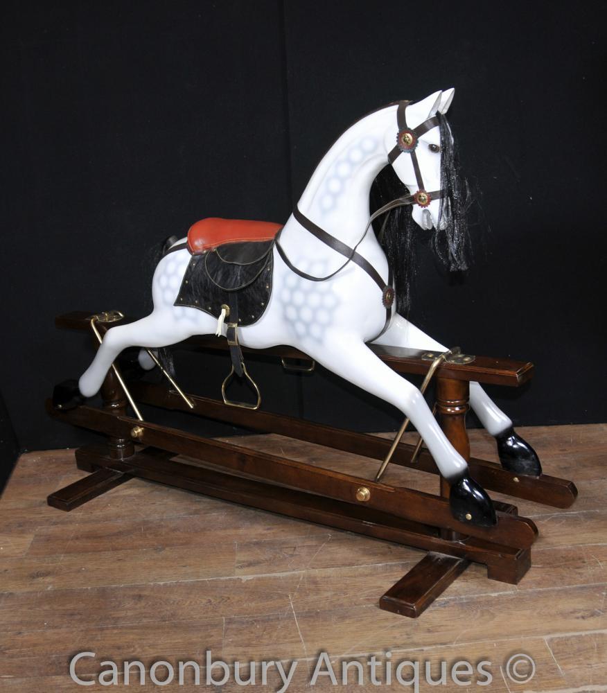 Grison Gris cheval à bascule pour enfants Toy Horses