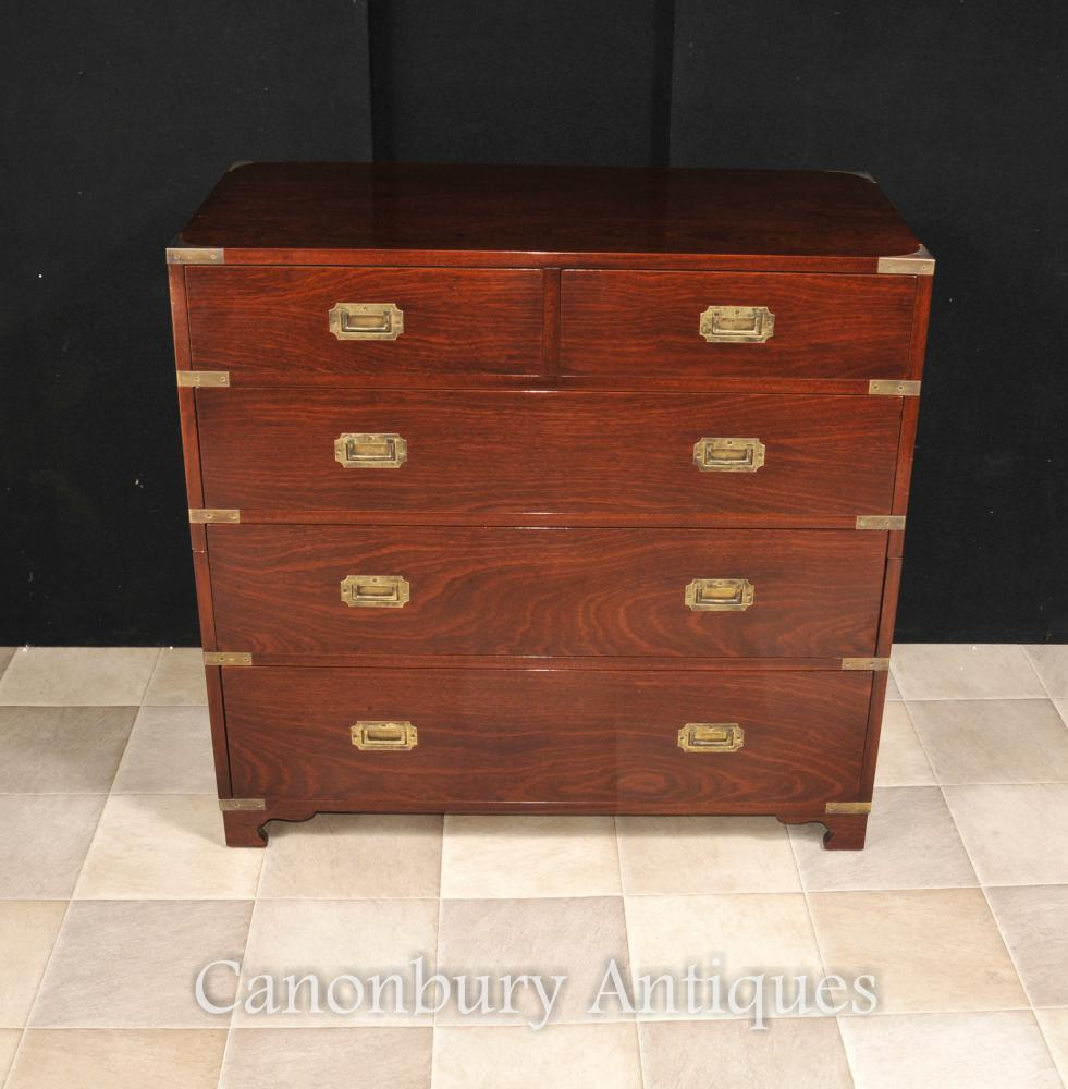 Anglais Acajou Campagne Commode Colonial Furniture