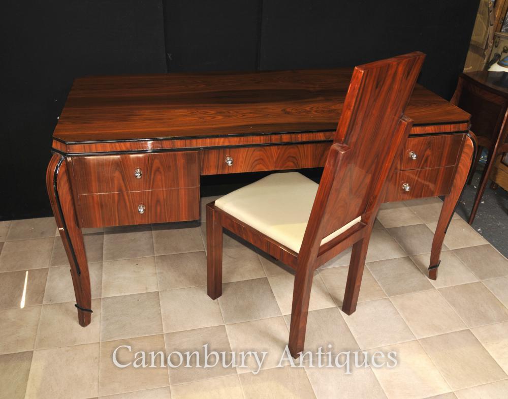 Art Déco Fauteuil de bureau Bureau Set Rosewood Writing Table Accueil