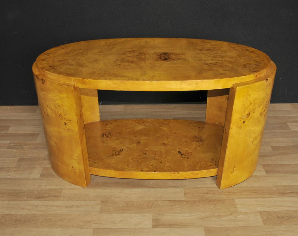 Art Deco Coffee Table Blonde Walnut 1920 Interiors