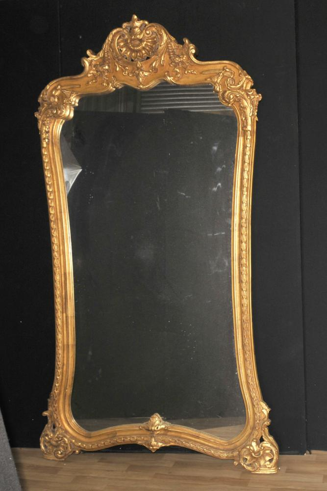 Grand Louis XVI Français Gilt Pier Mirror 7 pieds