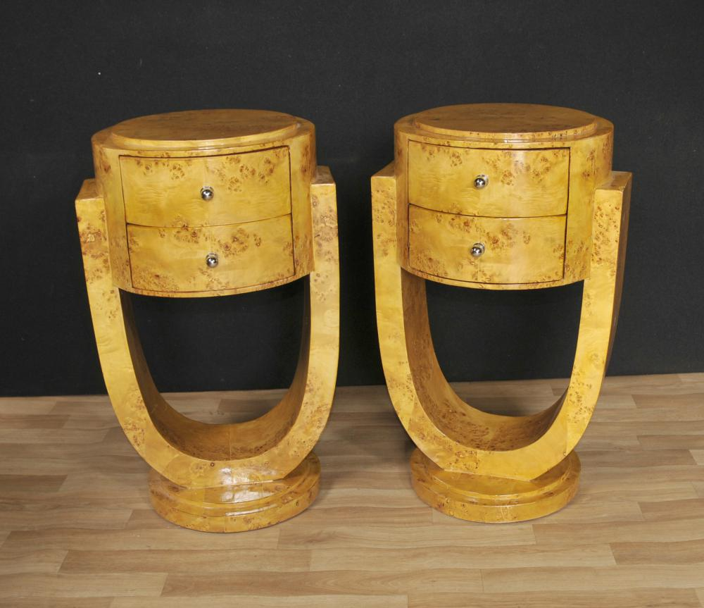 Paire Art Déco chevet Commodes Tables de chevet 1920