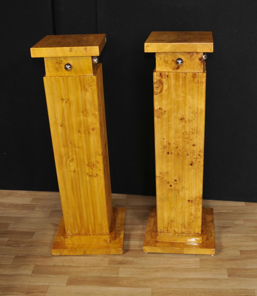 Paire Art Déco classique Piédestal Socle Colonnes Tables