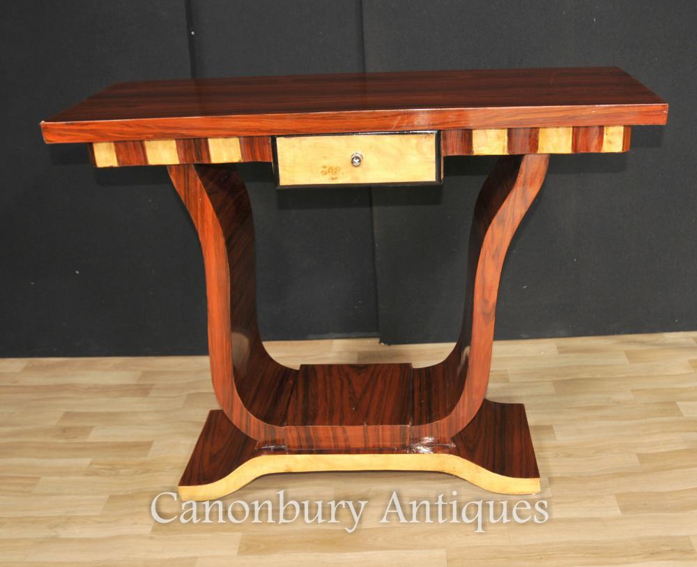Tables console Table Art Deco Hôtel Walnut Meubles Intérieurs
