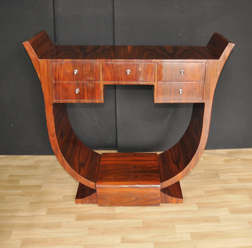 Art Déco Console Rosewood moderniste des années 1920 Meubles