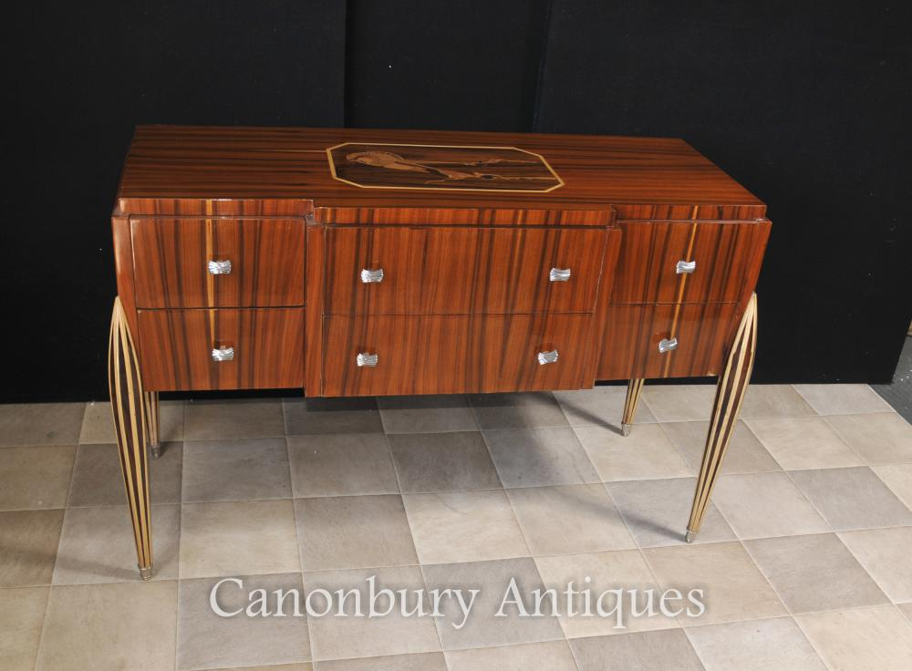Art déco Commode Cabinet serveur Inlay