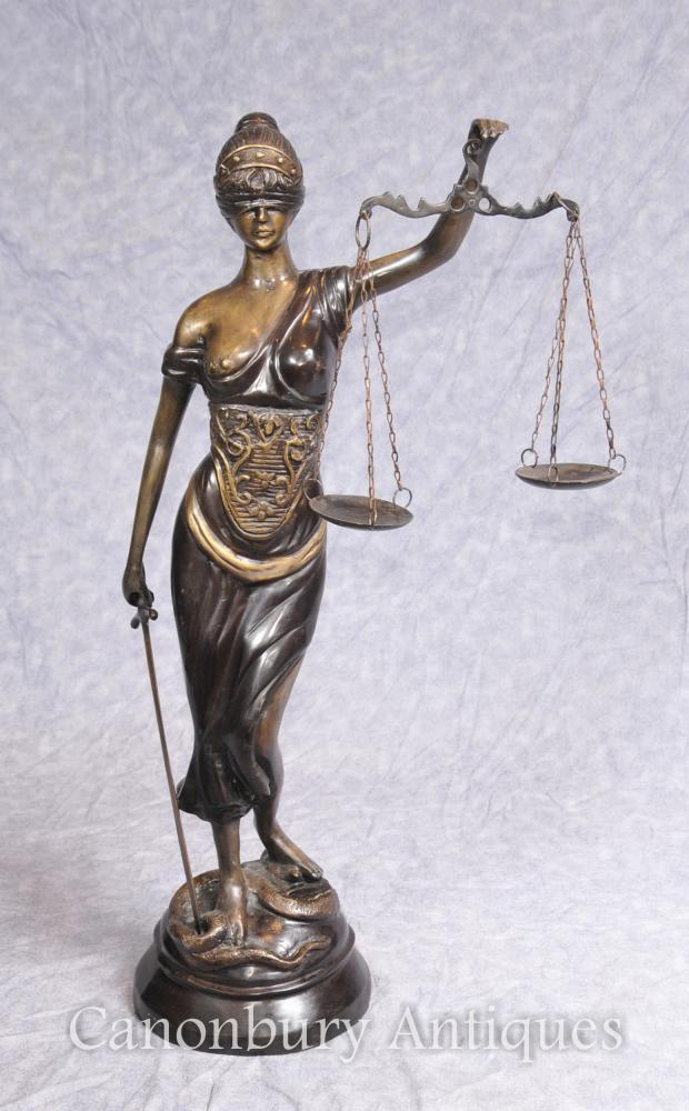 Bronze Lady Justice Statue Balances juridiques Justitia Themis