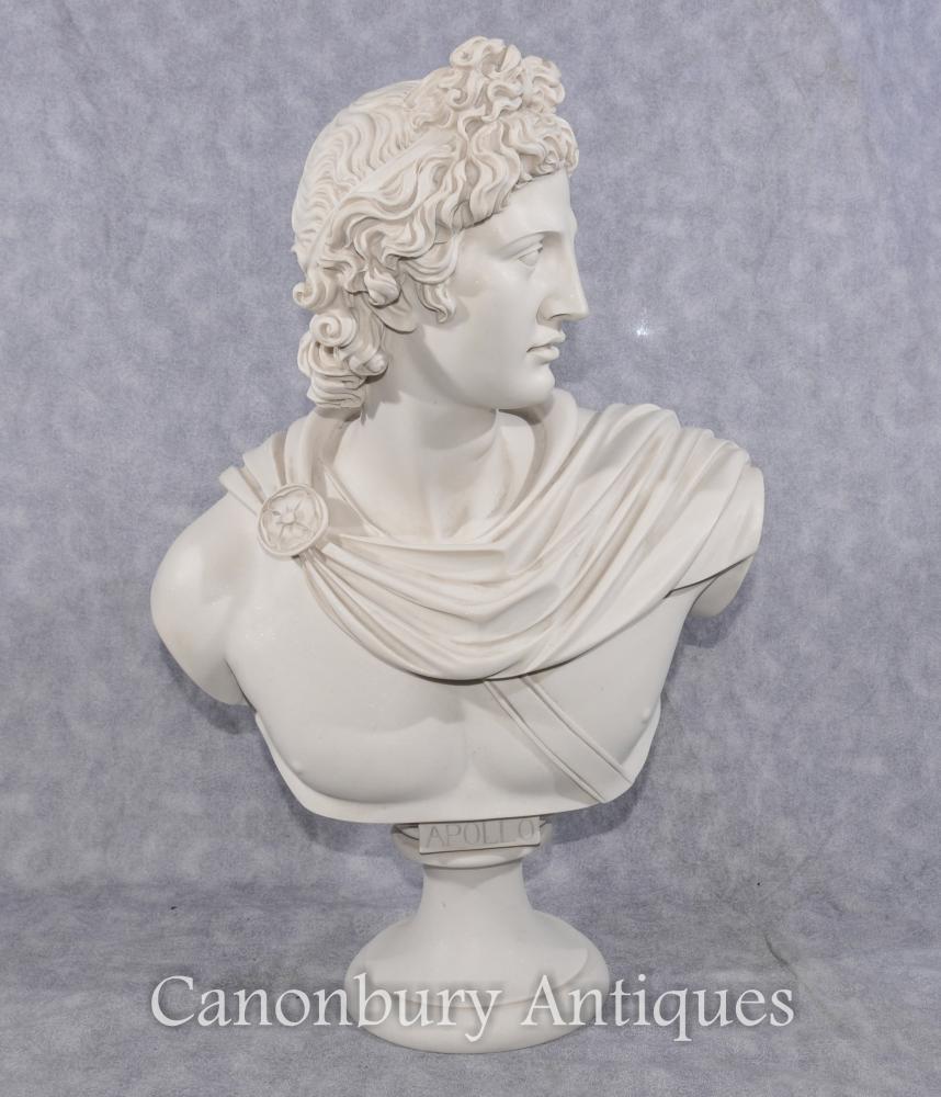 Classique italienne Pierre Buste Apollo dieu grec
