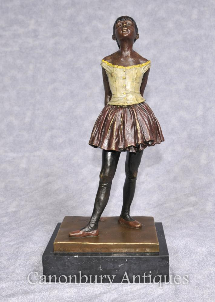 Français Bronze Degas Ballerine Statue Fille Figurine Danseur de ballet
