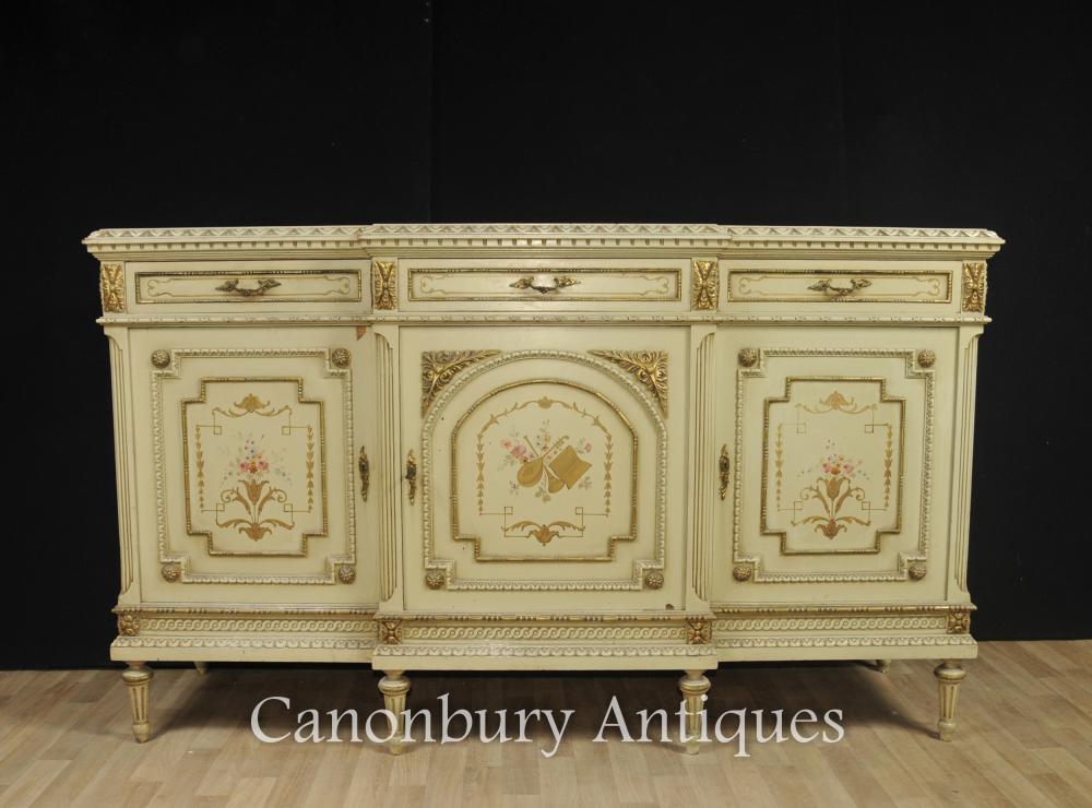 Française classique peinte Cabinet Sideboard Serveur
