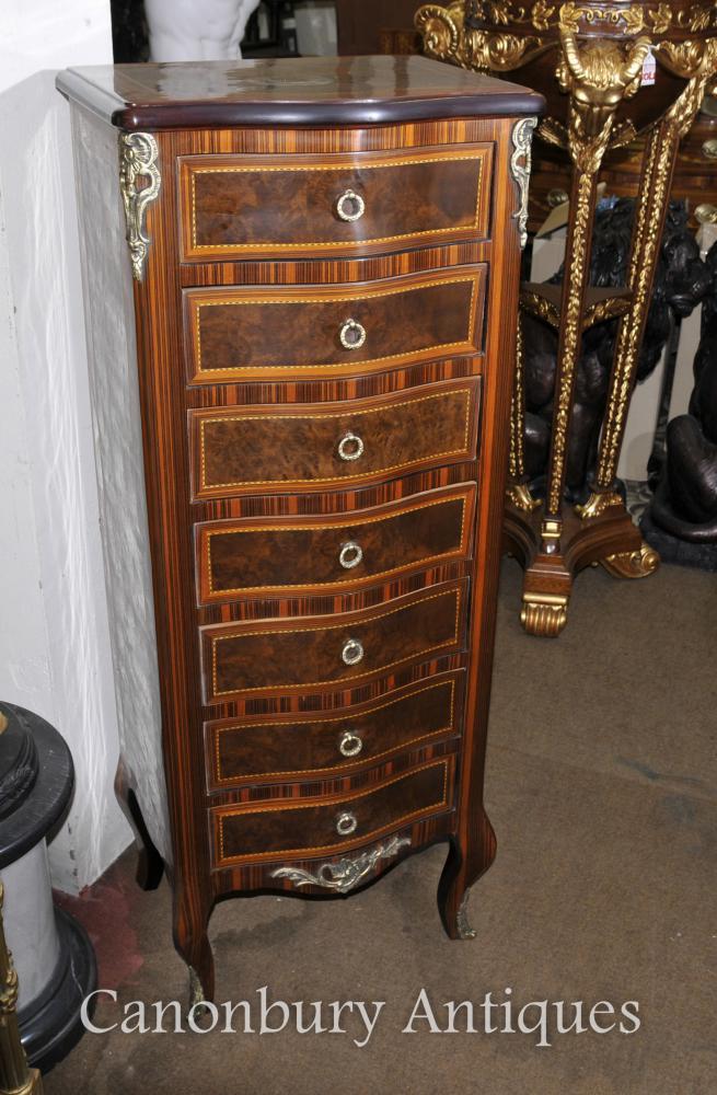 Louis XVI Tallboy Commode Kingwood Furniture