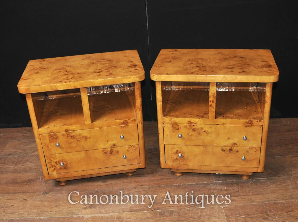 Paire Art Déco chevet Commodes Chevets Tables Chambre de meubles