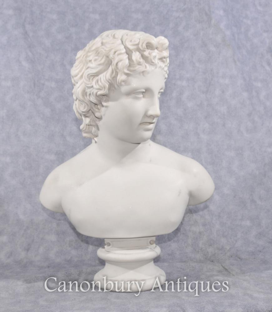 Pierre Buste Jeune David Sculpture classique Statue