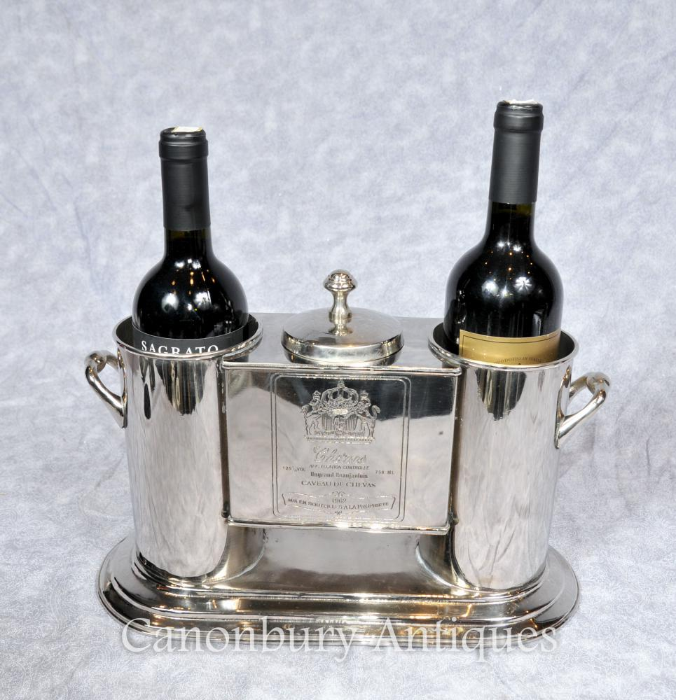 Silver Plate Français Wine Cooler Seau à Champagne Chenas Beaujolais