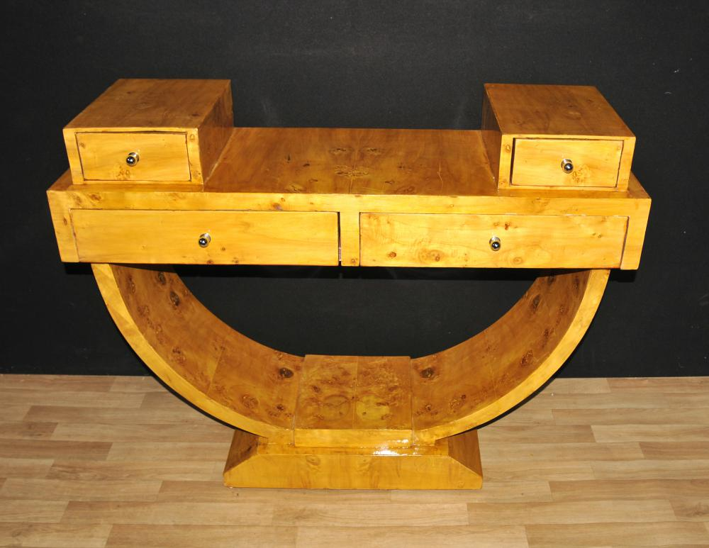 Tables Art Déco Walnut Table Console Vintage Meubles