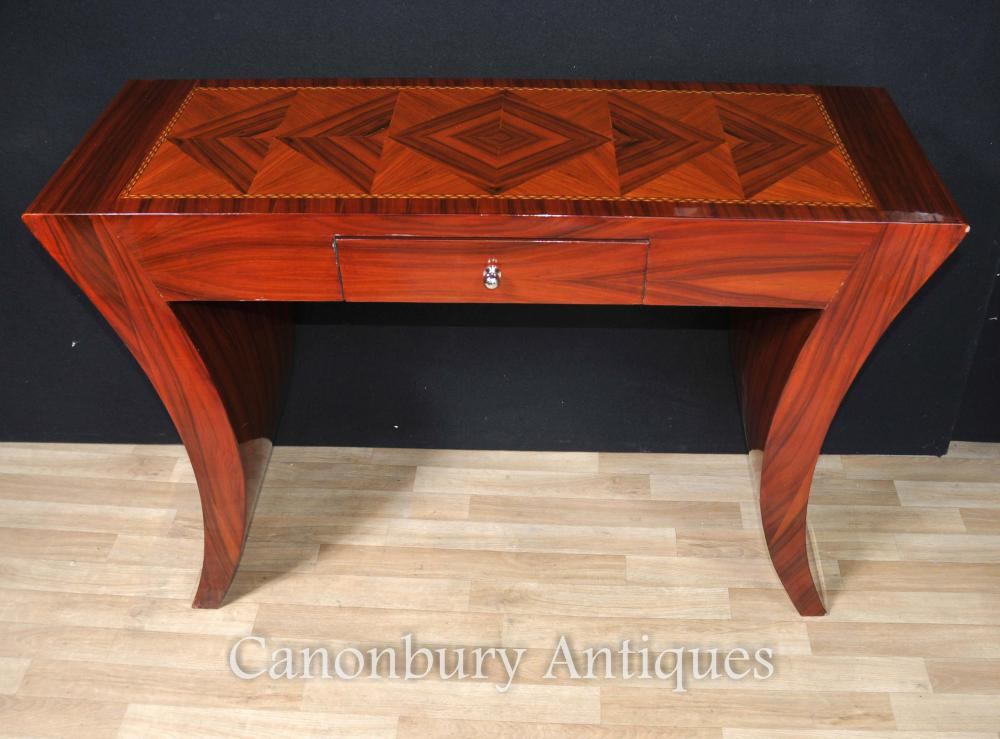Art Deco Table Console Rosewood Pastille Inlay
