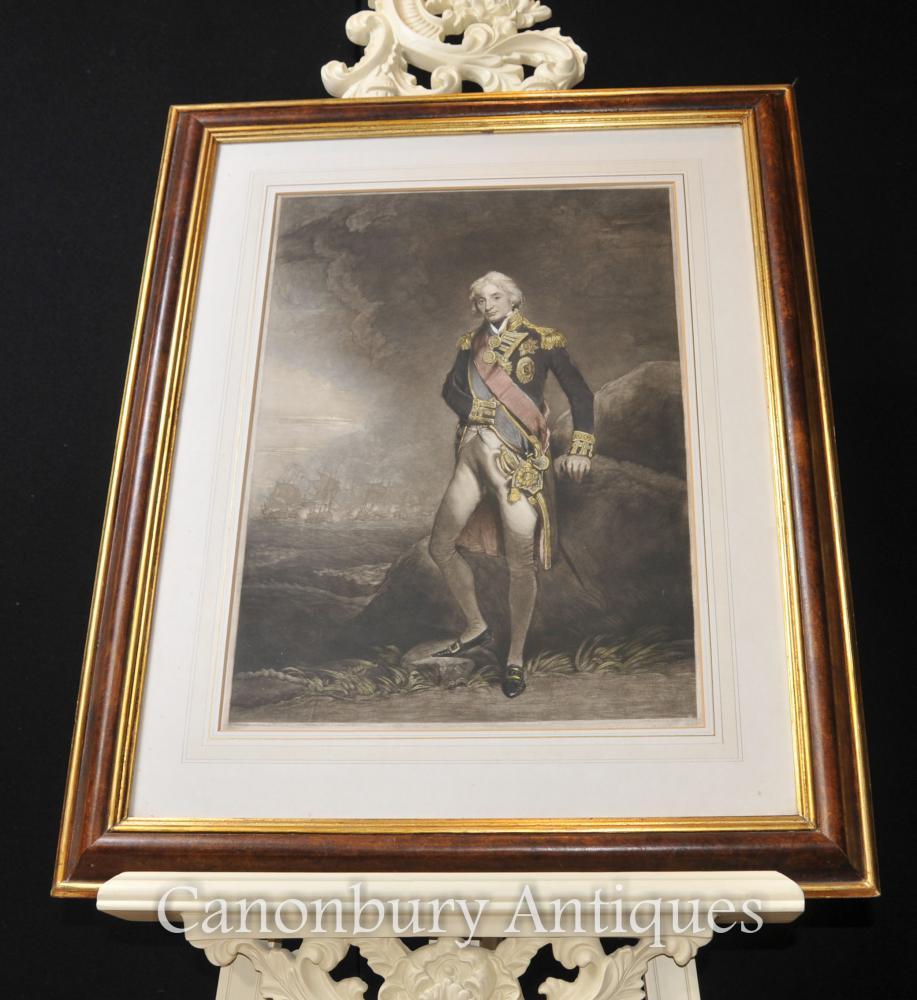 Début Imprimer l amiral Horatio Lord Nelson Marine royale britannique
