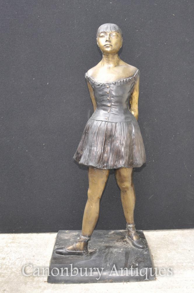 Français Bronze Ballet Dancer Statue Degas Ballerine Sculpture