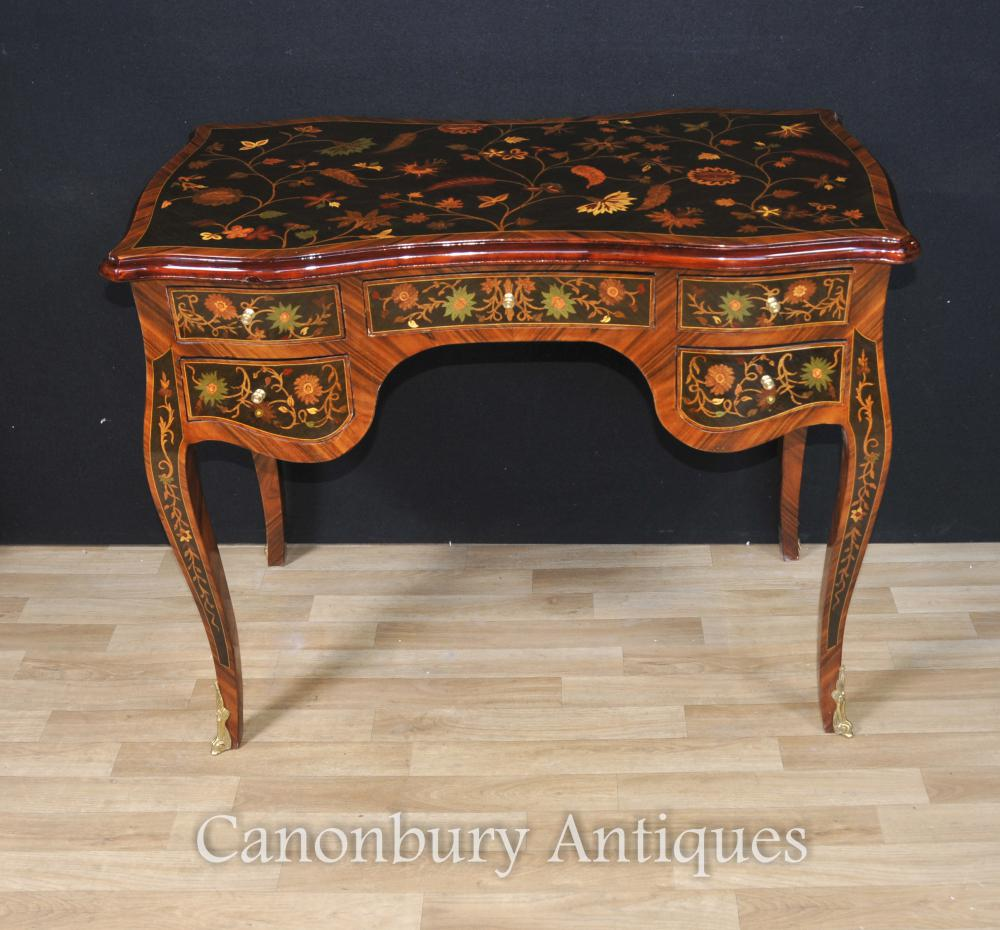 Français Louis XVI Bureau Bureau De Dame Writing Table Plat Inlay