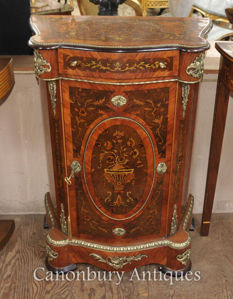 Français Louis XVI Cabinet Chest Bahut Marqueterie Inlay