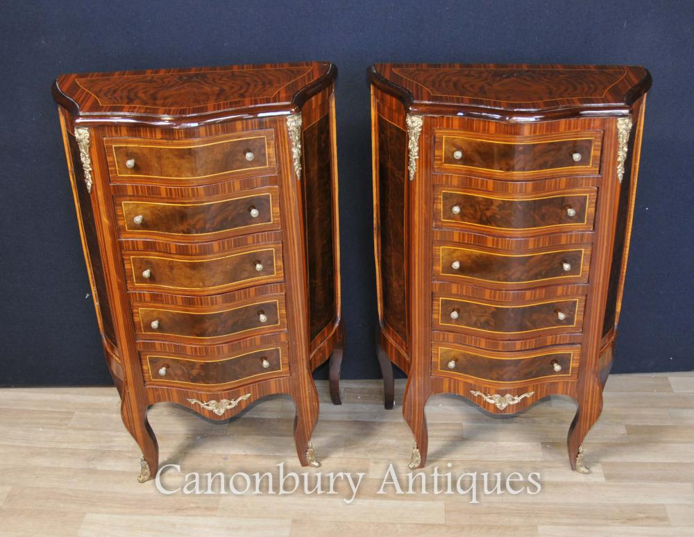 Paire Empire français Commodes Chest Tiroirs Tall Boys