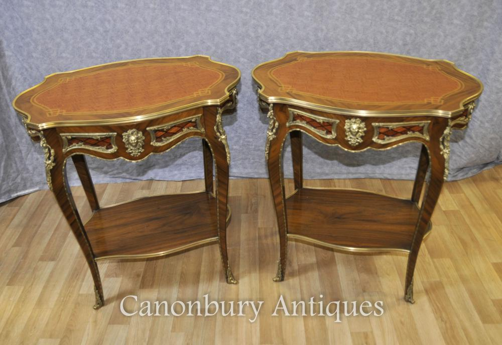 Paire Louis XVI Tables Side Cocktail Table Meubles